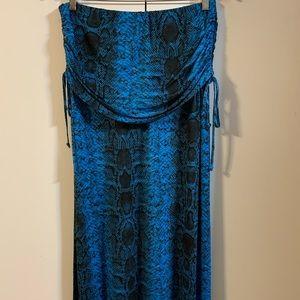 Venus snakeskin print maxi skirt